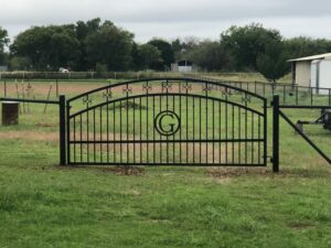 new Wrought Iron Gates in Fort Worth