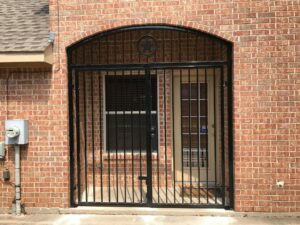 new automatic gate with brick