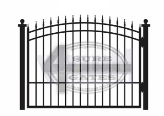 new metal black gate in Fort Worth TX