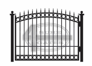 arched top metal gate in Dallas