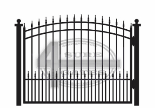 arched metal gate in Plano, TX