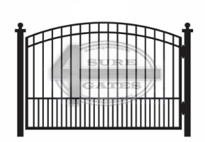 arched metal gate in Fort Worth