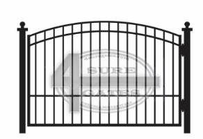 simple black arched metal gate
