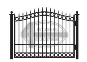 bell top black metal gate in Texas