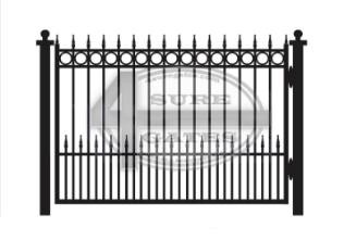 wrought iron black metal gate in Dallas, TX