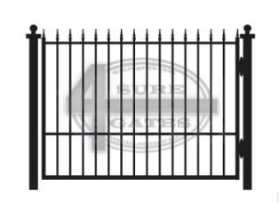 antique metal black gate