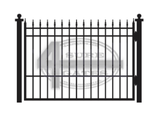 flat top black gate with points