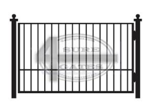 black flat top metal gate repair in Texas