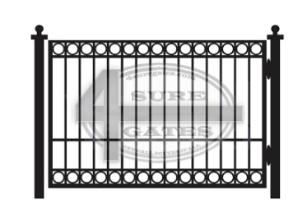 black flat top metal gate in Dallas