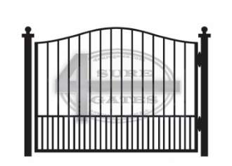 gate in Fort worth made of black metal