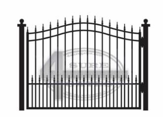 new black metal gate in Texas