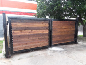 new Commercial Gate System at a business in Dallas
